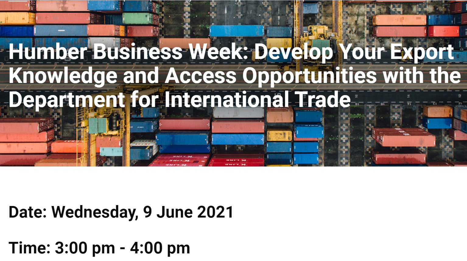 Develop Your Export Knowledge and Access Opportunities with the Department for International Trade